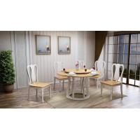 汇明创家莉尔索菲系列圆餐台Z340餐椅A8A3