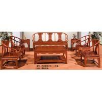 林岳红木明式圈椅沙发