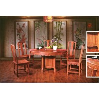 林岳红木中式圆桌