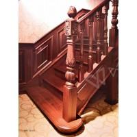 兴达实木楼梯XD-017