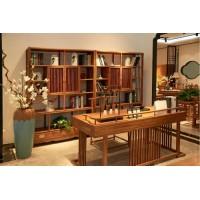 诗意东方新中式书桌、书柜