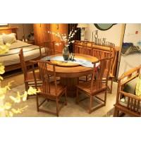 诗意东方新中式圆形形餐台椅2