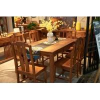 诗意东方新中式长形餐台椅