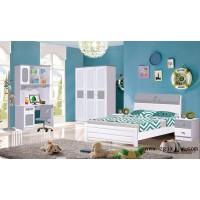 富利雅青少年彩色实木套房318#(灰色、天蓝色、浅绿色、粉红色)