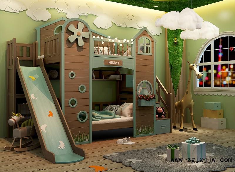 花王儿女青少年儿童家具水性漆子母床