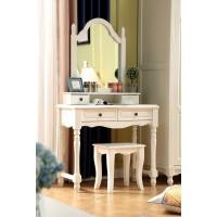 木佰创美式家具:象牙白美式压纹妆台03#