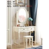 木佰创美式家具:象牙白美式压纹妆台05#