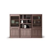 意式风范系列家具:组合书柜(左柜HF-01A中柜HF-01B右柜HF-01C)
