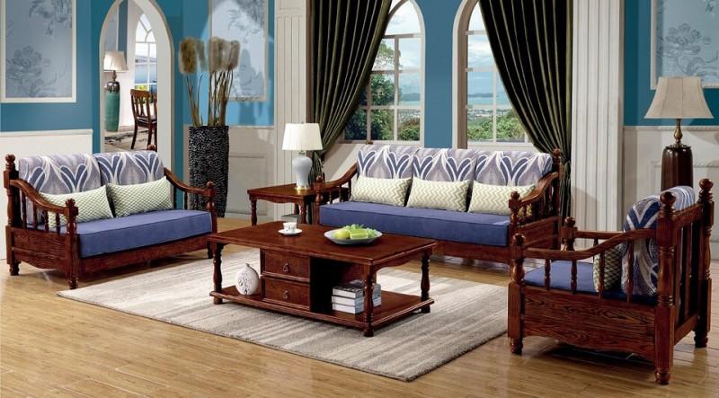 胡桃色美式压纹沙发A8810#(1+2+3)