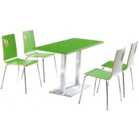 四位不锈钢分体餐桌ZY47