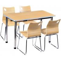 一桌四椅曲木餐桌ZY43