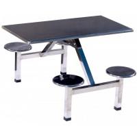 四位不锈钢圆凳餐桌ZY41