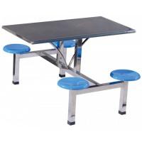 四位不锈钢玻璃钢圆凳餐桌ZY40