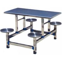四位圆凳不锈钢餐桌ZY37