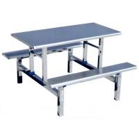 四位长条不锈钢餐桌ZY36