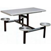 四位不锈钢圆凳餐桌ZY33