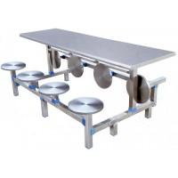 八位不锈钢圆凳翻转餐桌ZY32