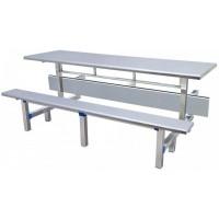 八位不锈钢条形翻转餐桌ZY31