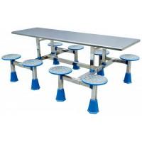 八位不锈钢圆凳分体餐桌ZY28