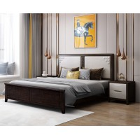 宣辉家具床XH822#(黑紫檀+米白色)