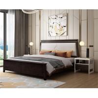 宣辉家具床XH821#(黑紫檀+米白色)