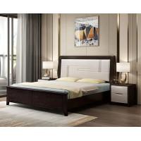 宣辉家具床XH823#(黑紫檀+米白色)