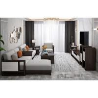 宣辉家具客厅系列沙发XHKO01#(黑紫檀+米白色)