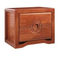 华民盛新中式海棠木床头柜11