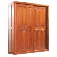 华民盛新中式海棠木两门推拉衣柜1512