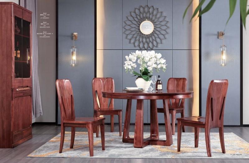 风范系列圆餐台HT-02#餐椅HY-03#