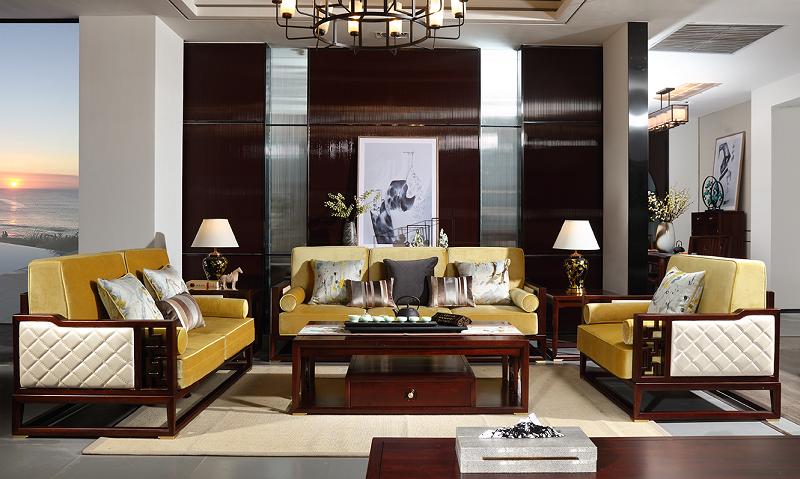 新中式客厅沙发01