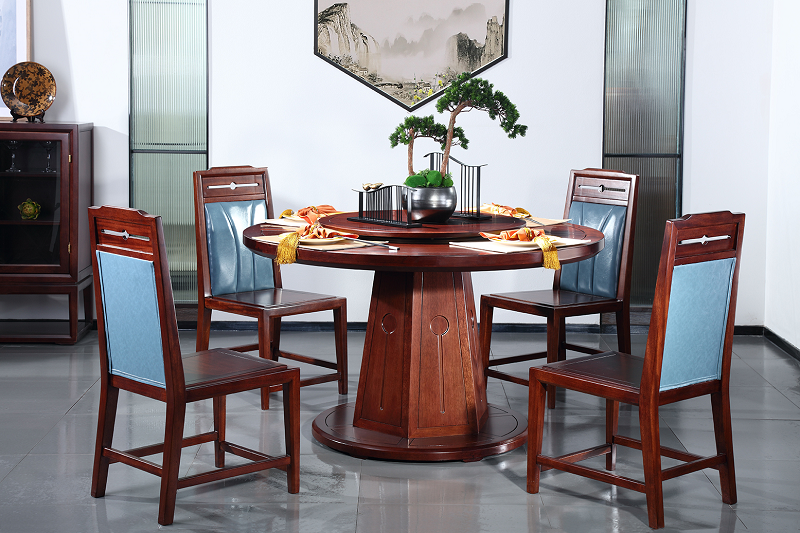 新中式餐厅餐桌01