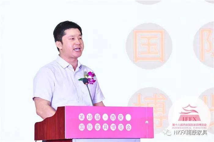 南康区家具产业促进局副局长刘涛