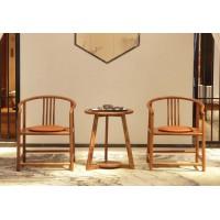 诗意东方新中式红木:江南休闲椅、休闲台