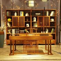 诗意东方新中式红木:上下两节状元及第书柜