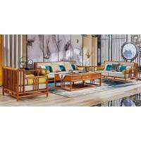 诗意东方新中式红木:荷塘月色沙发1+2+3