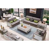 采木园致青春现代轻奢实木系列9851#沙发(A色 灰+白)2号布