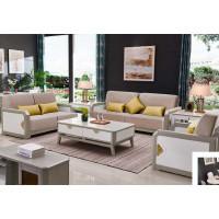 采木园致青春现代轻奢实木系列9851#沙发(A色 灰+白)1号布