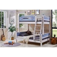 采木园致青春现代轻奢实木系列6102#儿童床(A色 蓝)
