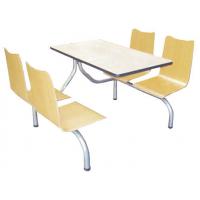 万昌家具:四人位曲木靠背餐桌W-32#