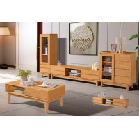 长城橡木客厅系列家具:中柜G610#、视品柜G612#、高柜G611#