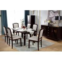 梵臣美尚现代美式轻奢家具:A8019方餐桌