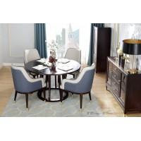 梵臣美尚现代美式轻奢家具:A8018圆餐桌