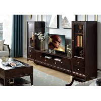 梵臣美尚现代美式轻奢家具:A8019电视柜、A8019电视边柜