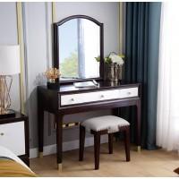 梵臣美尚现代美式轻奢家具:A8019妆台+妆凳