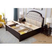 梵臣美尚现代美式轻奢家具:A8019床+气压高箱