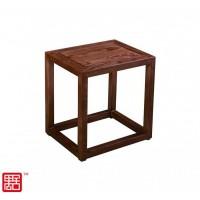 禺舍禅意新中式民宿家具:320白蜡木方凳