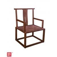 禺舍禅意新中式民宿家具:312胡桃色白蜡木官帽椅