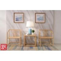 禺舍禅意新中式民宿家具:303白蜡木休闲椅