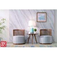 禺舍禅意新中式民宿家具:C05白蜡木休闲椅